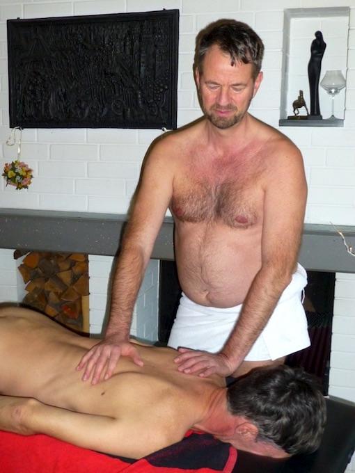 Heiße Massage